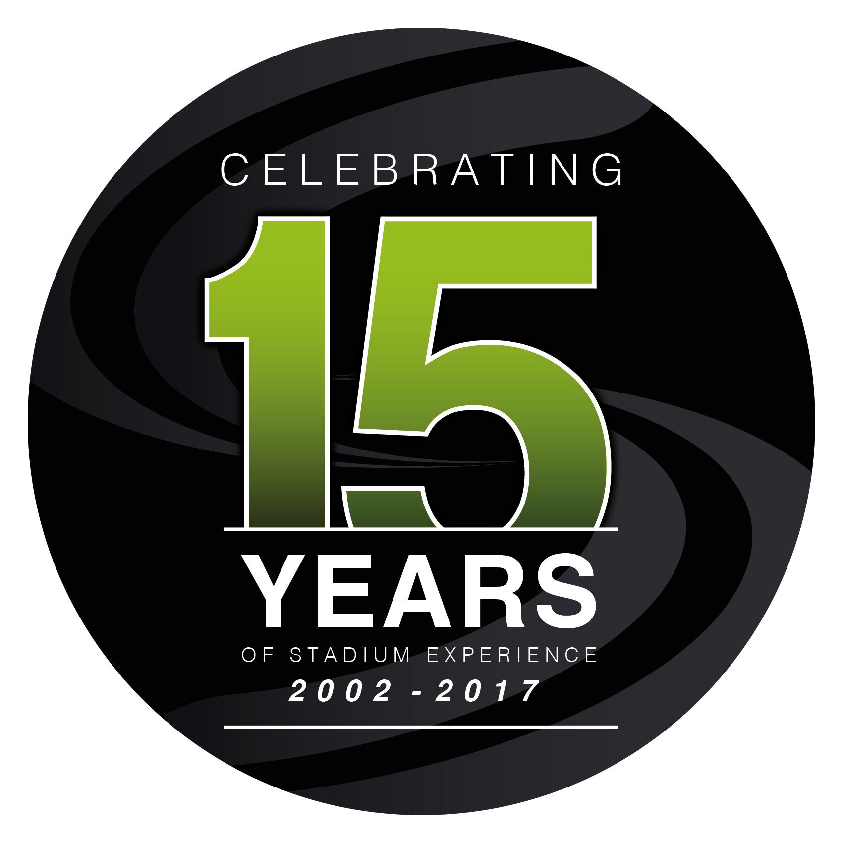 Stadium Experience 15th Anniversary Logo